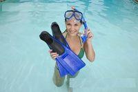 Wholesale INTEX Reef Rider Kids Swimming Diving Mask Snorkel Fins Junior Water Sport Set