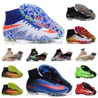 army tan boots - New OrigINal mens MerCURial CR7 Soccer shoes High Ankle football Boots MaGISta SuPERfly II IV V HERITAGE FG IC TF cleats HyperVENom