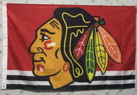 Wholesale Blackhawks Teams Flags Cheap Sports Flags Sports Teams Polyester Flag Two Sides Printed Flag All Teams Hockey Flags are Available