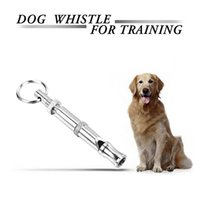Wholesale cm Dog Training Whistle UltraSonic Sound Sledding Stop Barking Patrol Repellent Repeller Deterrent Whistle Silent High Pitch