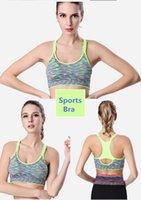 Wholesale New arrival shockproof sports bra adjustable shoulder strap sections stained underwear no rims yoga Running Athletic Outdoor Apparel
