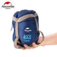 Wholesale Naturehike Outdoor Camping Ultra light Sleeping Bag Envelope Artificial Silk Mini Cotton Sleeping Bag Super Mini Size ZD112C