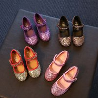 Wholesale Kid Girl Shoes Kids Footwear Korean Sequin Paillette Casual Princess Shoes Autumn Shoes For Kids Children Casual Shoes Lovekiss C27428
