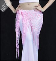 Wholesale Fashion Hot Stage Wear Colors New Womens Belly Egypt Dance Costume Tassel Sequined Mermaid Triangle Scarf Belt Skirt Hip Wrap