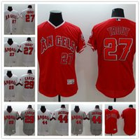 Wholesale Los Angeles Angels Mike Trout Reggie Jackson Rod Carew Gray FlexBase Baseball Jerseys Authentic Collection