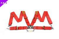 Wholesale Free shiping Sabelt red Racing Satefy Belt Point Seat Belt Harness In stock and ready to ship