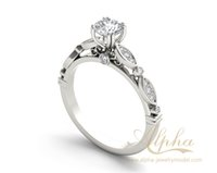 Wholesale modern unique simple classic antique round sterling silver jewelry diamond halo engagement ring for women engagement party BER0600