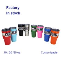 Wholesale YETI oz Cups Double Wall Bilayer Vacuum Insulated Cooler Rambler Tumbler Travel Vehicle Beer Mug