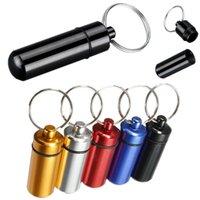Wholesale Hot Sale pc Waterproof Aluminum Pill Box Case Bottle Cache Drug Holder Keychain Container