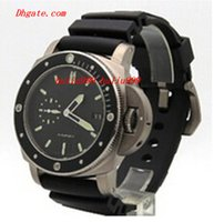 Cheap Luxury Watches Brand 389 00389 Submersible 1950 47mm Automatic Mens Watch Black Rubber Band Men's Sport Wrist Watches