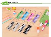 Wholesale whiilesale cm ruler Creative cute mini portable calculator student count white collar multi function calculator