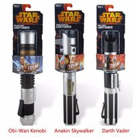 Wholesale Telescopic Star Wars Lightsaber Darth Vader Anakin Obi Wan Sword Light saber Action Figure Toys No Light Children s Day Gift