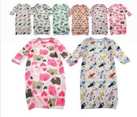 Clothing Style 3 Season 60CM hot sale Baby Cotton sleeping bag Pajamas sleepers jumpsuit kids dot shape rompers for Kids children