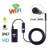 Wholesale HD Wifi Wireless Endoscope Snake Inspection Camera MM Lens IP67 Waterproof Borescope Support iOS iPhone Android m Length Cable