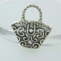 antique silver baskets - 14684 Alloy Antique Silver Vintage Mini Cute Basket Pendant Charm Jewelry
