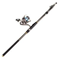 Wholesale Carbon Telescopic Spinning Casting Pole Saltwater Sea Fishing rods Portable F00137 SPD