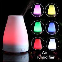 Wholesale 120ML LED Light Mini USB Humidifier Office Home Essential Oil Air Diffuser Aroma Mist Maker Aroma Ultrasonic Aromatherapy US EU UK Plug