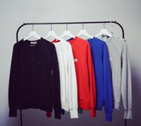 acne clothes - 2016 Spring Autumn Acne Studio Raglan Sleeves Square Smiley Coat Solid Color Loose Hoodies Women Tops Couple Clothes