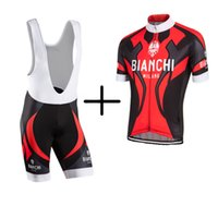 bianchi cycle clothing - Bianchi Pro Team Breathable Cycling Jerseys Clothing Quick Dry Ciclismo Hombre Bike Clothing Lycra GEL Pad Bike Bib Pants Shorts For Man