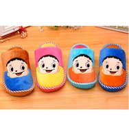 Wholesale Children Autumn Winter Funny Keep Warm Cartoon Picture Indoor Floor Slippers Fit For years Boys And Girls Anti Slip Home Shoes