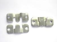 Wholesale 24pcs stainless steel picture frame fittings Bracket Mounts handing brace Hook hanger