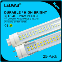 Wholesale LEDVAS Pack W Super Bright T8 LED Tubes SMD led Light Lamp Bulb feet m Ft AC85 V Led Lighting