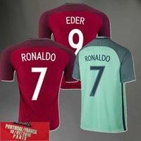 Wholesale 2016 Portuguese Home Away football Jersey Portugal RONALDO NANI F COEMTRAO J MOUTINHO shirt final