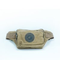 Wholesale New arrivial waist pack with interior and outer zipper pockets Mens waist Canvas bags