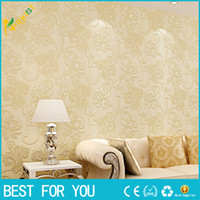 Wholesale Deep Embossed D Wall Paper Modern Vintage flower Pattern Paper Wallpaper Roll For living room Wall covering Decorate new hot