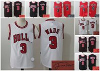 Wholesale 2016 A new arrival chicago Dwyane Wade Rajon Rondo bulls signed jersey signature jersey for mens