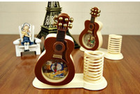 Wholesale 2014 new clock children kids desk violin Brush pot clock Lovely fashion art form novelty Creative place adorn the alarm clock