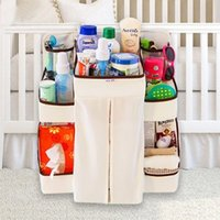 bamboo baby furniture - Baby Diapers Storage Bag Baby Bed Hanging Shelf Nappy Bottle Toy Organization Nursery Closet Furniture Accessories Supplie items