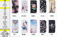 balloon pouch - Dreamcatcher Flower Butterfly Skull Wallet Leather Case For Iphone Plus S plus SE S Eiffel Tower Balloon Flip Covers Pouch