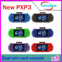 Wholesale 5PCS Bit Video Games Player PXP3 Slim Station Pocket Game Handheld Game Console Dual sim Card Gift Box YX PXP3