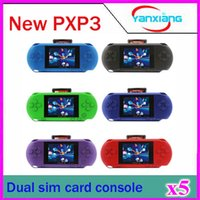 al por mayor consola de juegos portátil de 16 bits-5PCS 16 juegos video del juego PXP3 del juego de bolsillo de la estación Slim Game + caja dual del sim Card + Gift del juego ¡Venta al por mayor! YX-PXP3