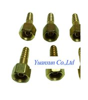 Wholesale Pressure reducer plant brass wire connector plug Tsui oxygen tube outlet nozzle