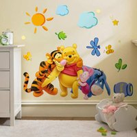 Wholesale Winnie the Pooh Stickers Removable Home Decor Wall Decal Sticker for Kids Nursery Decoration in stock
