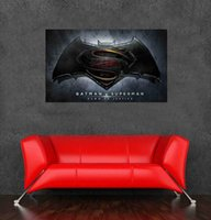 baby logos designs - 2016 New arrival batman vs superman logo wall sticker movie poster for wall decoration size x60cm x24inch decoration sticker wall baby
