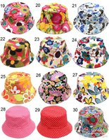 Cheap Free DHL Hot Bucket sun hat for kids Children floral Hats 36colors baby girls fashion Grass Fisherman Straw hat 140Pcs