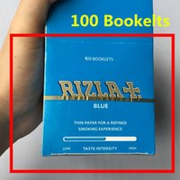 Wholesale RIZLA Blue Rolling Papers King Size Cigarette Rolling Paper Unbleached No in Africa Tobacco Rolling Papers Unrefined Hemp Rolling Papers
