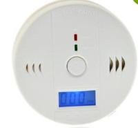 venta caliente! CO monóxido de carbono probador de fuego de gas alarma de advertencia de Envenenamiento LCD del detector del <b>sensor</b> Muestra vigilancia de la seguridad Seguridad en el Hogar Alarmas
