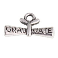 anti sliding - Anti silver Plated Alloy Graduate Diploma Charms For Necklaces Bracelets Making mm AAC1191