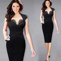 adjustable work stand - Womens Hot Sexy Built in Lace Bra Stand Collar Adjustable Zipper Ruched Party Clubwear Club Sheath Bodycon Dress