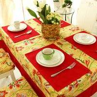 Wholesale 4Pcs Red Solid Europe Style Dining Table Mat Cup Mat Insulation Mat Decoracao Kitchen Accessories Kitchenware Placemat