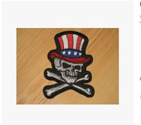 Wholesale 5Piece comes with a rubber skull embroidery cloth paste DIY clothes patch