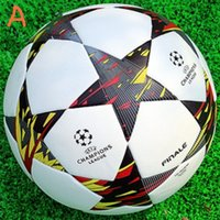 Wholesale Match Football Soccerball Soccer Euro Champions League Antiskid Competition Training NO Soft Skin Particles Blue White Red Yellow Black