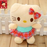 ai decoration - 18CM skirt KT can Ai Gebu Cat kitten plush toys doll hello kitty doll Children gift Kids Toys Wedding Party Home Decorations