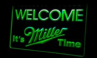beer time - Ls257 g Welcome Miller Time Beer Neon Light Sign