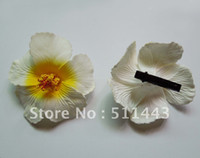 artificial hibiscus flowers - cm Artificial Hawaiian Hair Flower EVA Foam Hibiscus Flower Hair Clip