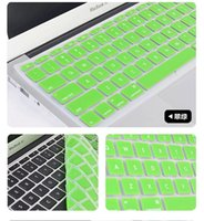 Wholesale Laptop Silicone KeyBoard Case Protector Cover For MacBook colors DC0017 Free Fedex Shipping